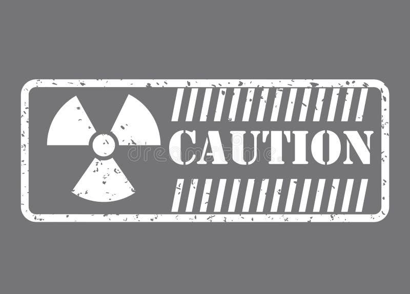 Projeto do sinal de aviso ilustração royalty free