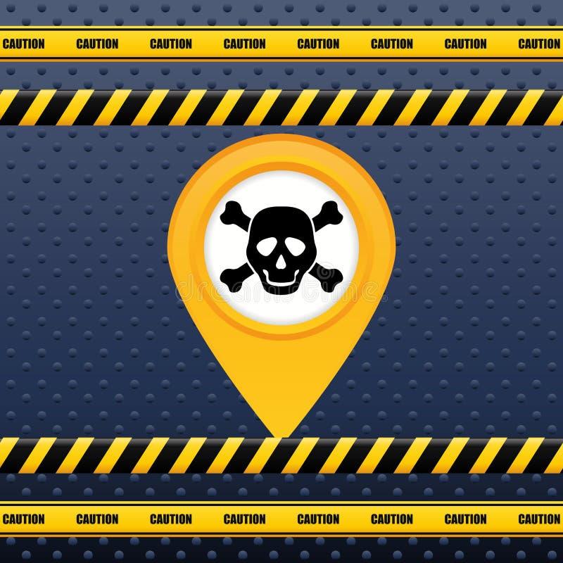 Projeto do sinal de aviso ilustração stock