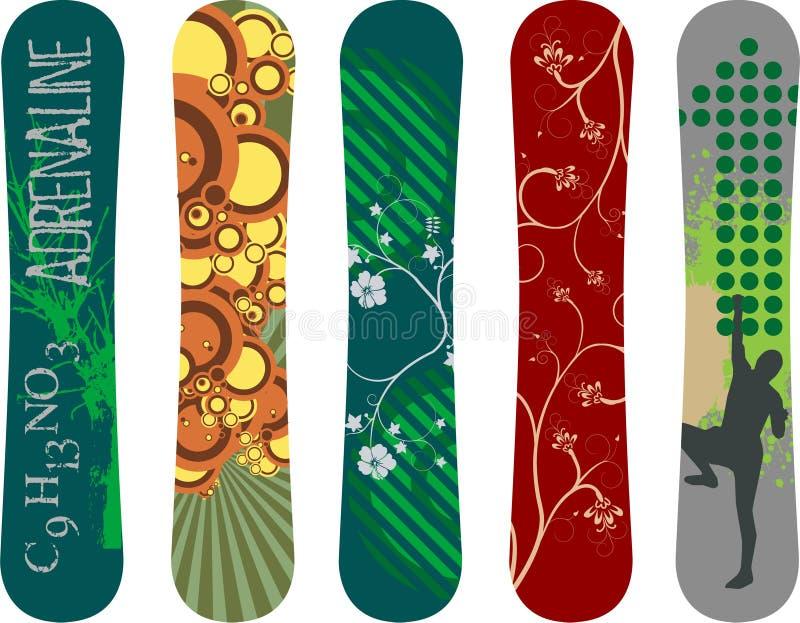 Projeto do Snowboard ilustração do vetor