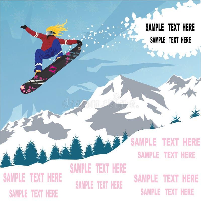 Projeto do Snowboard imagem de stock royalty free