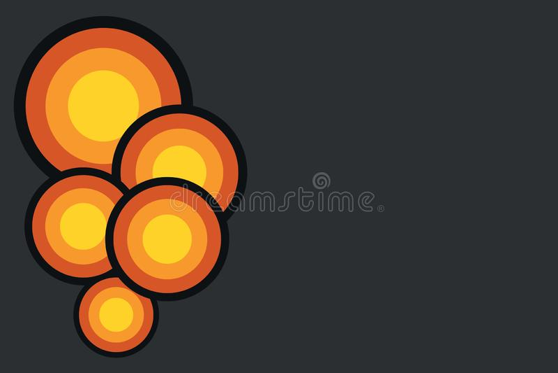 Projeto do sumário do círculo Fundo simples e colorido dos c?rculos Teste padrão cômico futurista do vintage isometric simples ilustração stock