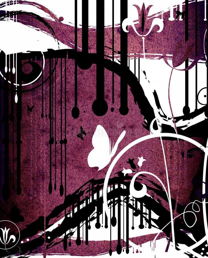 Projeto do sumário de Grunge ilustração do vetor