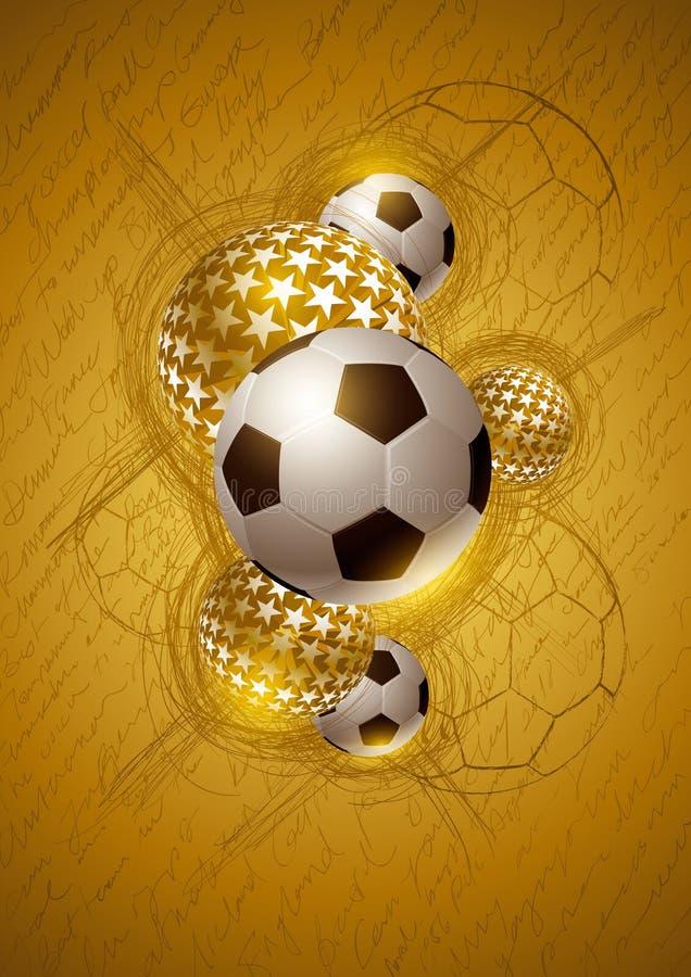 Projeto do sumário do futebol do ouro ilustração royalty free