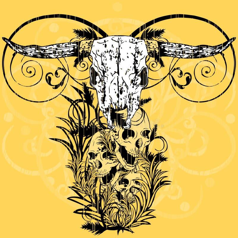 Projeto do t-shirt de Grunge foto de stock royalty free