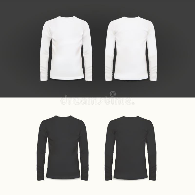 Projeto do t-shirt, do polo e da camiseta do vetor ilustração royalty free