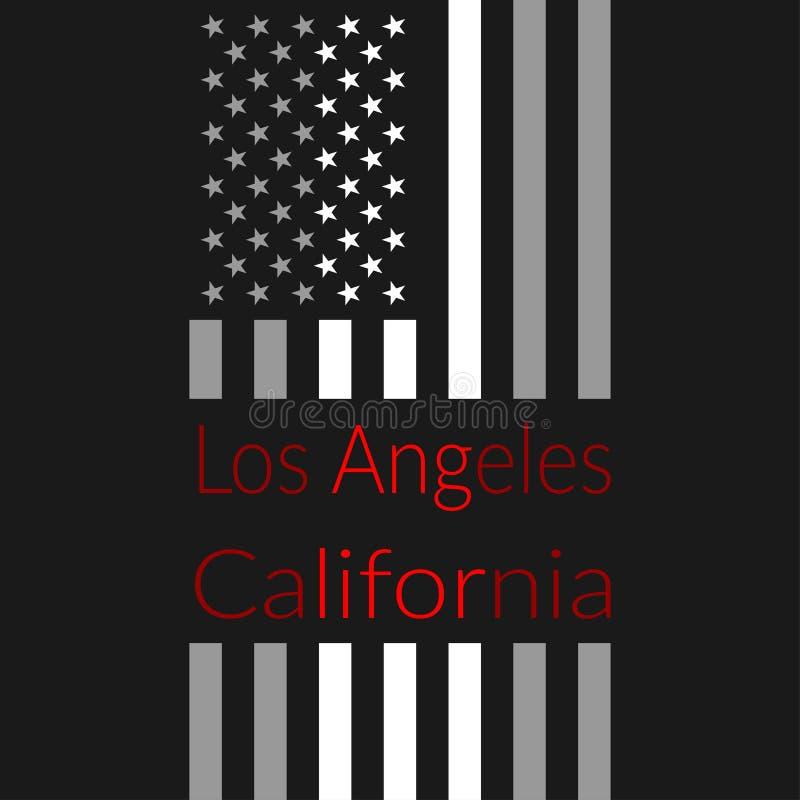 Projeto do t-shirt do LA ilustração do vetor