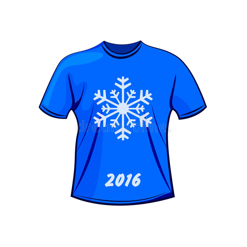 Projeto do t-shirt para o inverno ilustração royalty free
