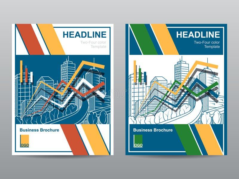 Projeto do tamanho do molde A4 do inseto do folheto do folheto do informe anual, projeto da disposição da capa do livro, molde ab ilustração stock