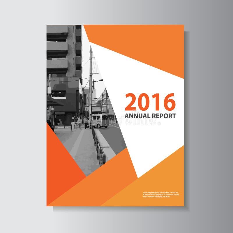 Projeto do tamanho do molde a4 do inseto do folheto do folheto do vetor, projeto da disposição da capa do livro do informe anual, ilustração do vetor