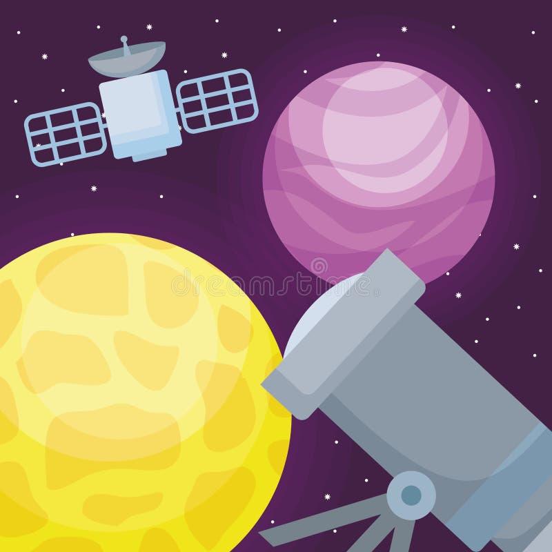 Projeto do telescópio espacial ilustração stock