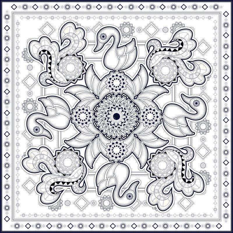 Projeto do teste padrão da cisne ilustração royalty free