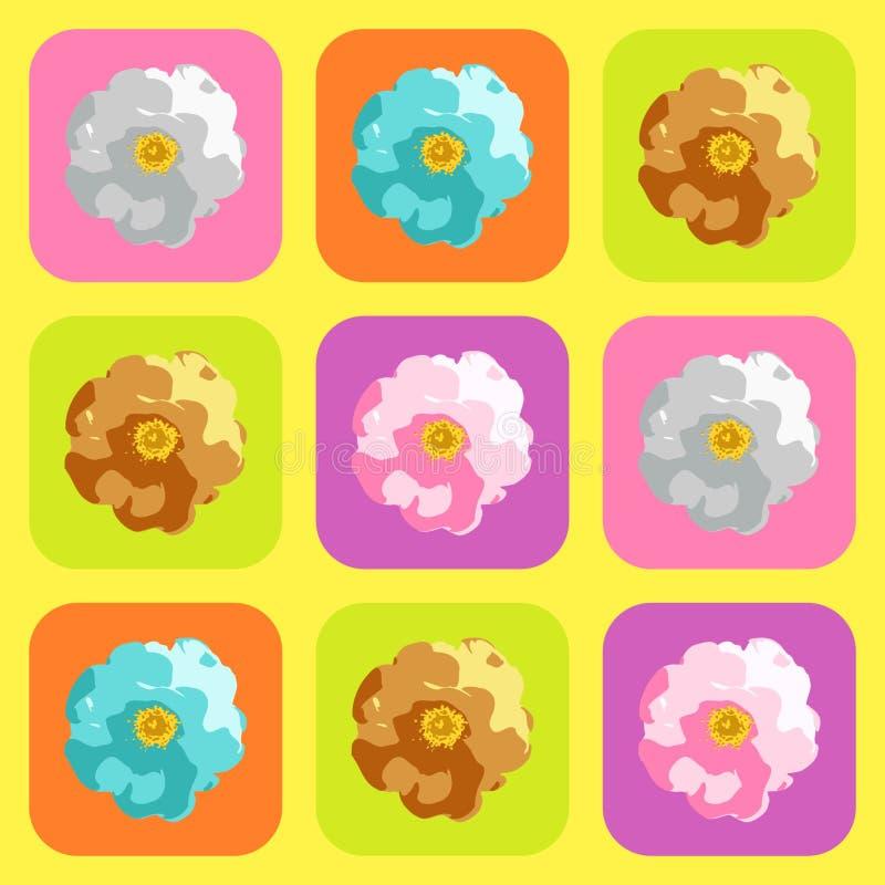 Projeto do teste padrão de Rosa ilustração royalty free