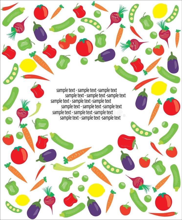 Texto da amostra do vegetariano ilustração do vetor