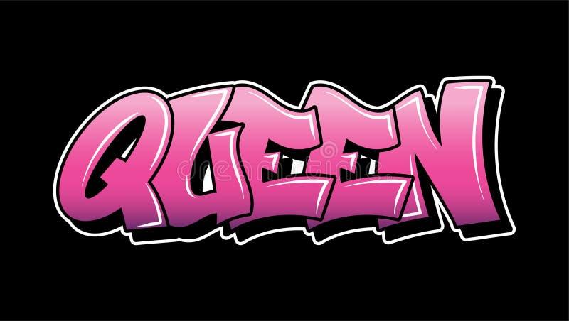 Projeto do texto da rotulação do estilo dos grafittis ilustração do vetor
