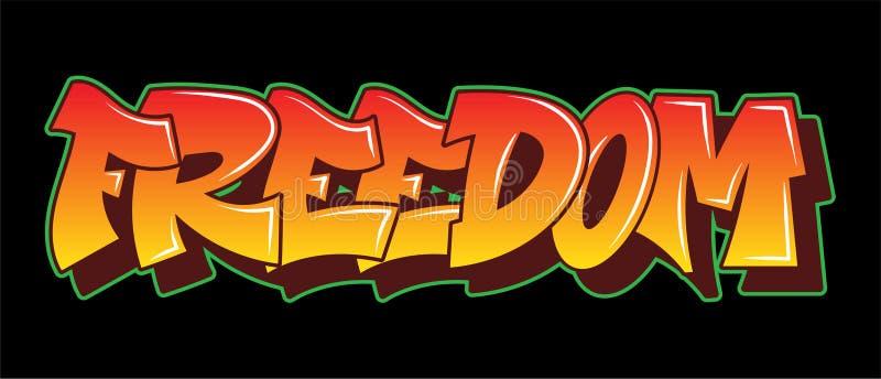 Projeto do texto da rotulação do estilo dos grafittis ilustração stock