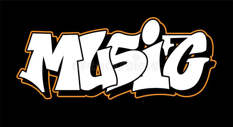 Projeto do texto da rotulação do estilo dos grafittis ilustração royalty free