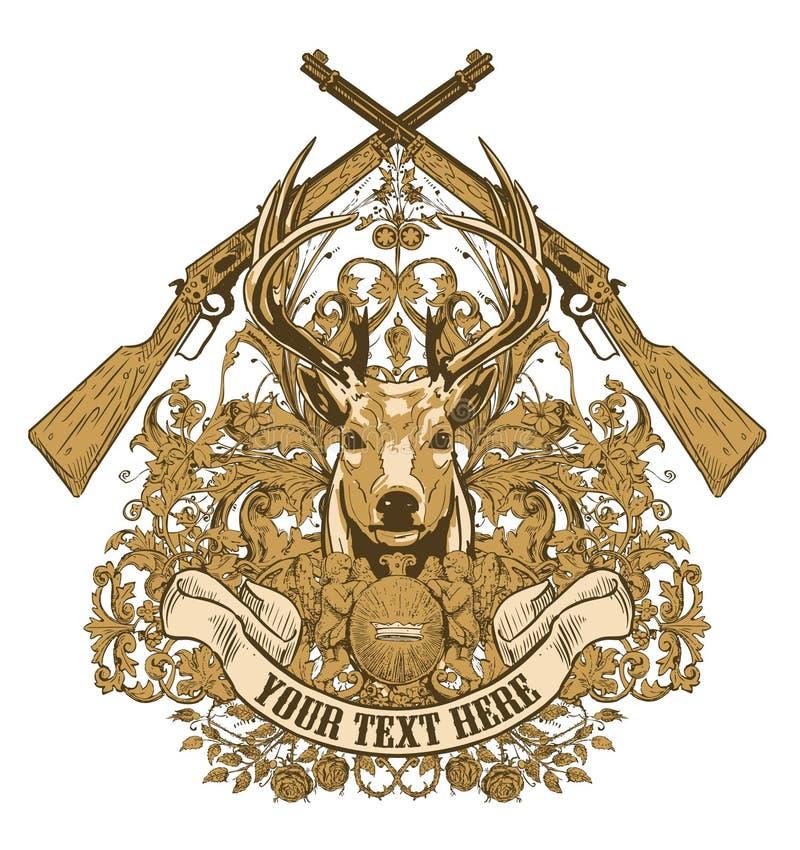 Projeto do troféu dos caçadores   ilustração do vetor