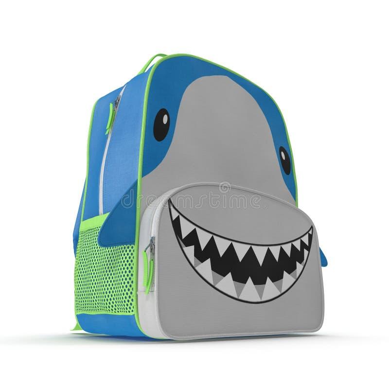 Projeto do tubarão da trouxa do ` s da criança em um branco ilustração 3D ilustração royalty free
