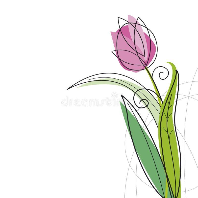 Projeto do Tulip ilustração do vetor