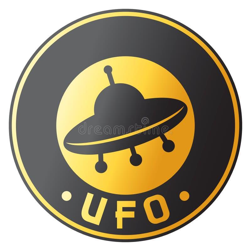 Projeto do UFO ilustração royalty free