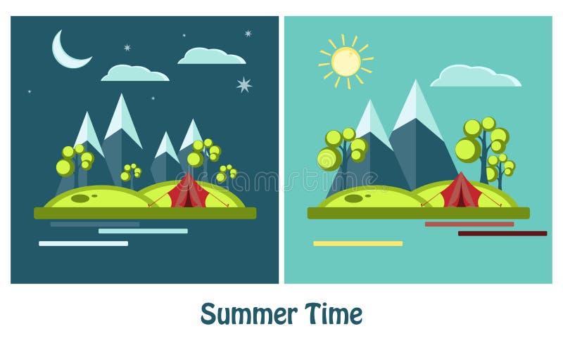Projeto do verão do vetor ilustração do vetor