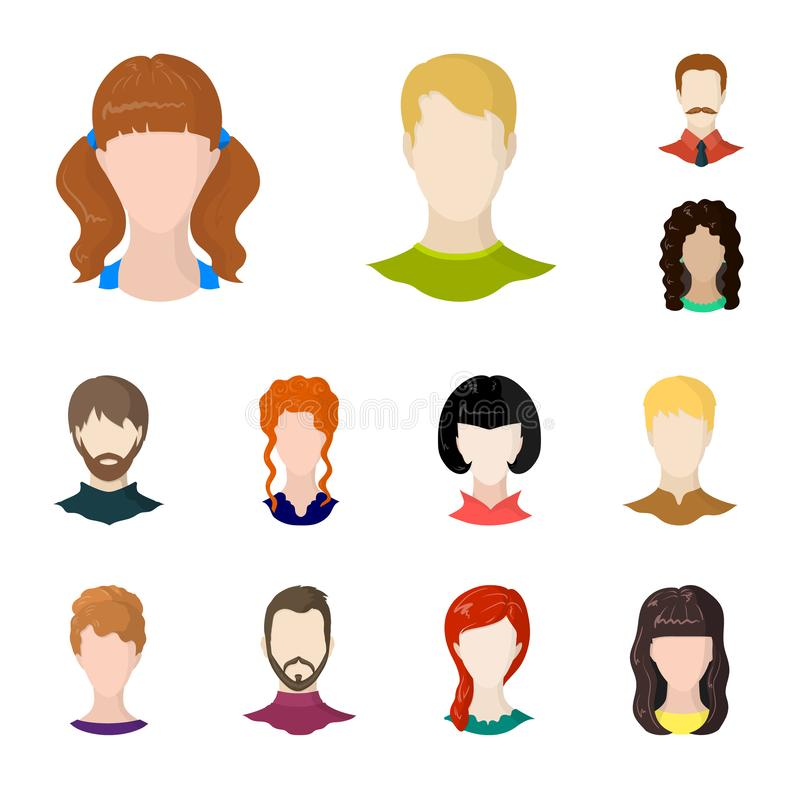 Projeto do vetor do ícone do avatar e do manequim Ajuste do avatar e da figura símbolo de ações para a Web ilustração royalty free
