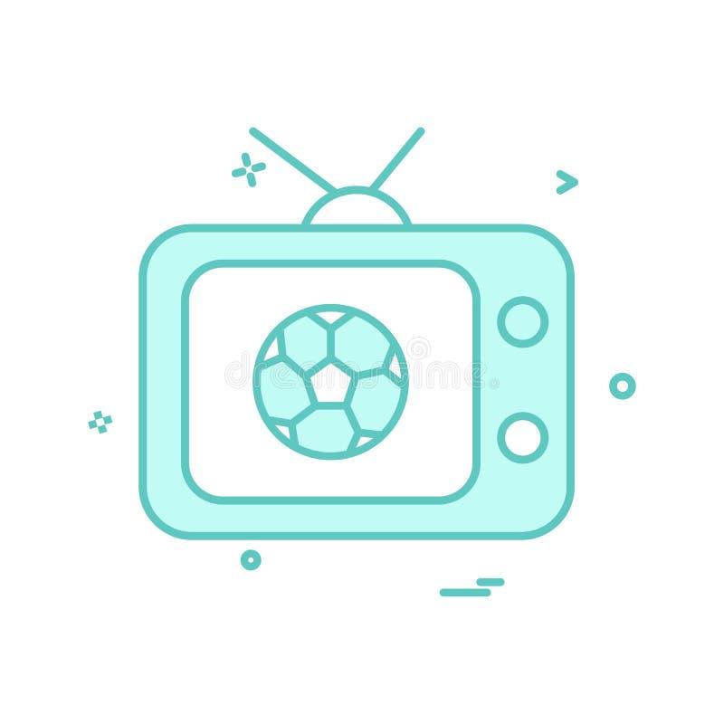 projeto do vetor do ícone do futebol da tevê ilustração do vetor