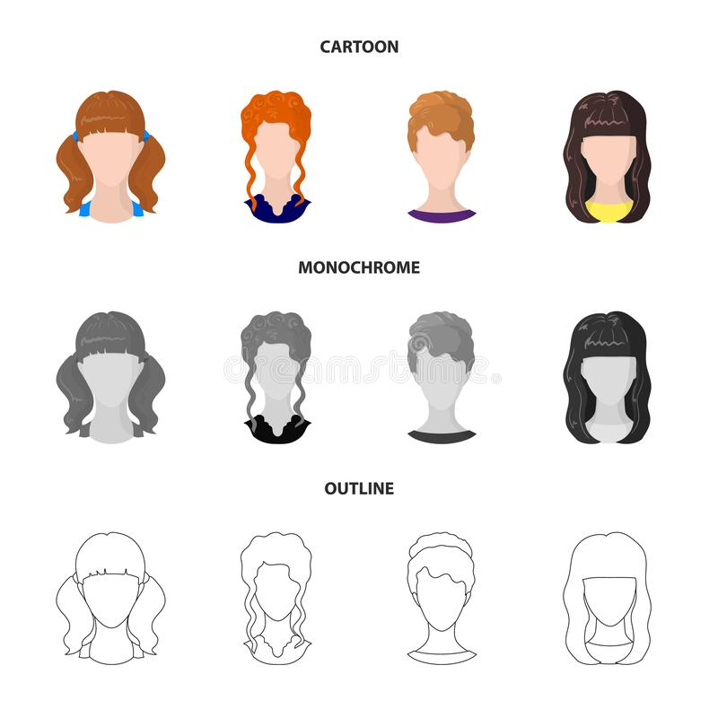 Projeto do vetor do ícone do profissional e da foto Coleção do profissional e ícone do vetor do perfil para o estoque ilustração royalty free