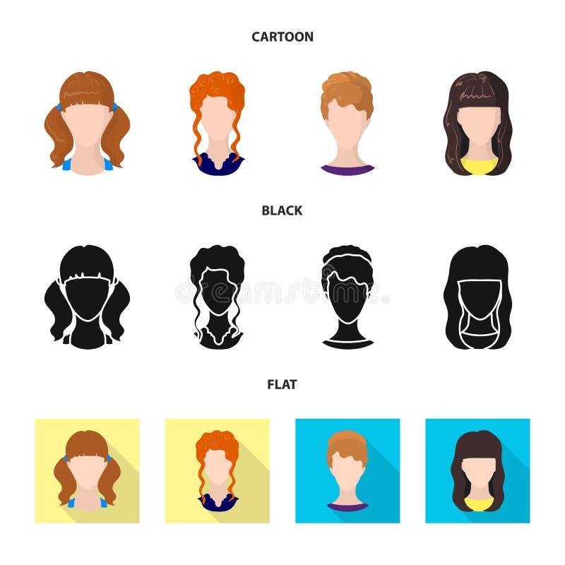 Projeto do vetor do ícone do profissional e da foto Coleção do profissional e do símbolo de ações do perfil para a Web ilustração stock