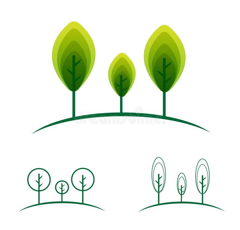 Projeto do vetor do ambiente do bem-estar da ecologia do símbolo do ícone do logotipo da planta da árvore ilustração do vetor