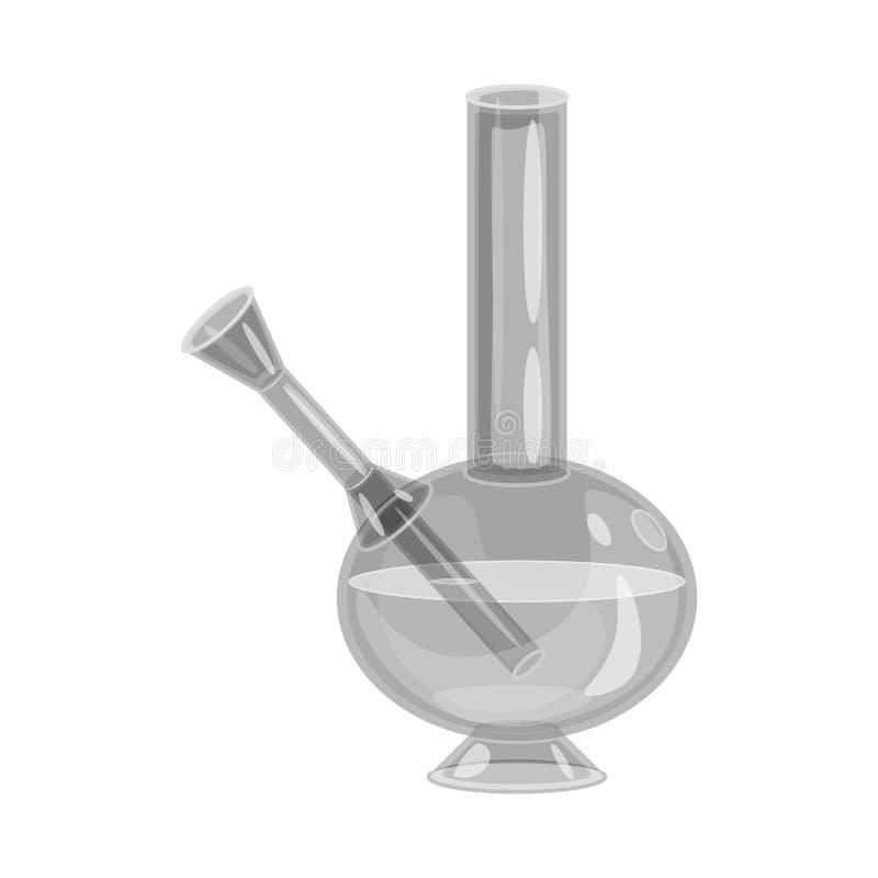 Projeto do vetor do cachimbo de água e para bong o sinal Ajuste do ícone do vetor do cachimbo de água e do cigarro para o estoque ilustração royalty free