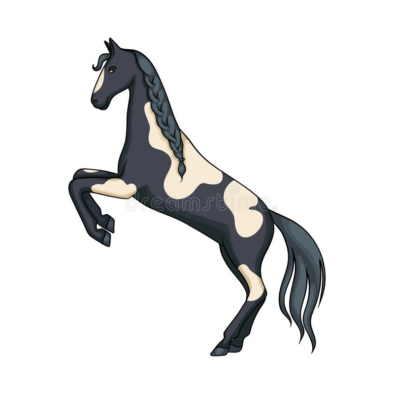 Projeto do vetor do cavalo e do símbolo selvagem Coleção do símbolo de ações do cavalo e do rancho para a Web ilustração royalty free
