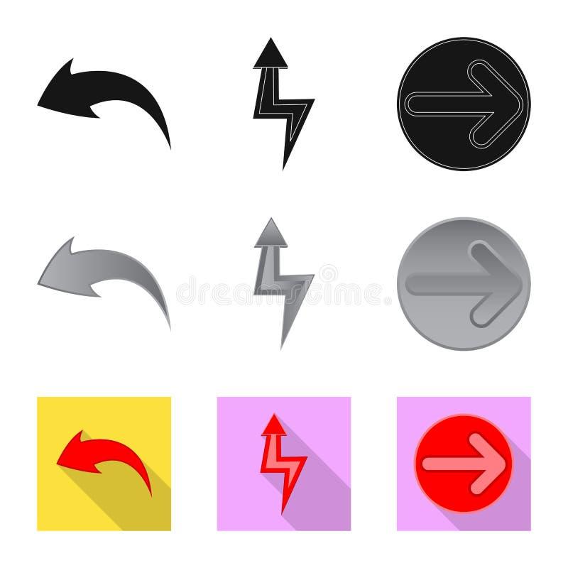 Projeto do vetor do ?cone do elemento e da seta Cole??o do ?cone do vetor do elemento e de sentido para o estoque ilustração do vetor
