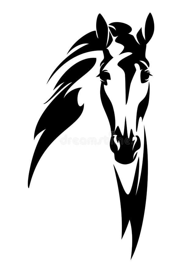 Projeto do vetor da cara do en da cabeça de cavalo ilustração royalty free
