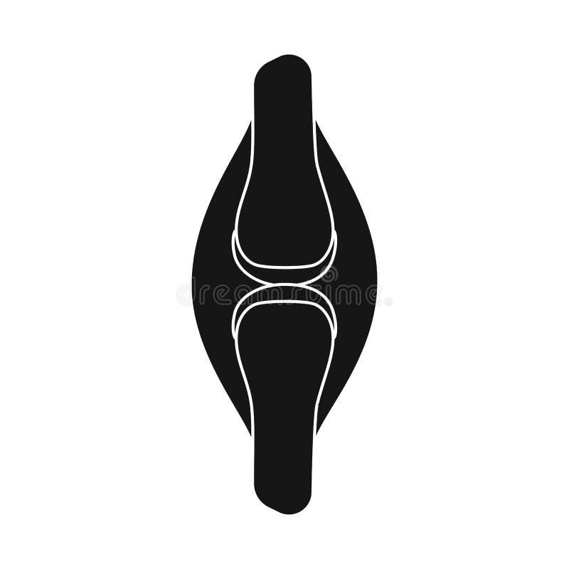 Projeto do vetor da pesquisa e do logotipo do laboratório Ajuste do símbolo de ações da pesquisa e do órgão para a Web ilustração stock