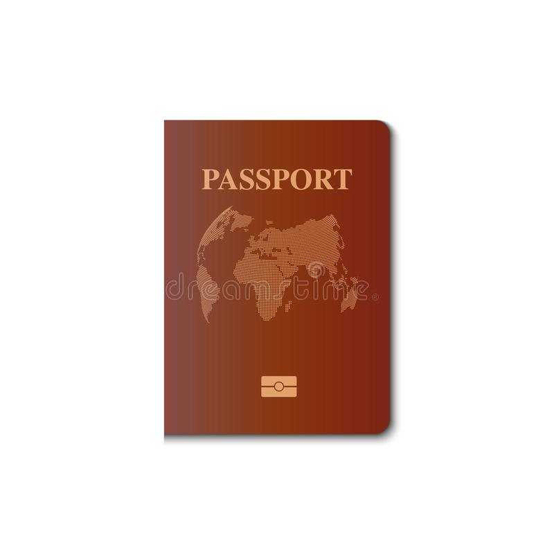Projeto do vetor da tampa do passaporte, cidadão da identificação, vetor, IL ilustração do vetor