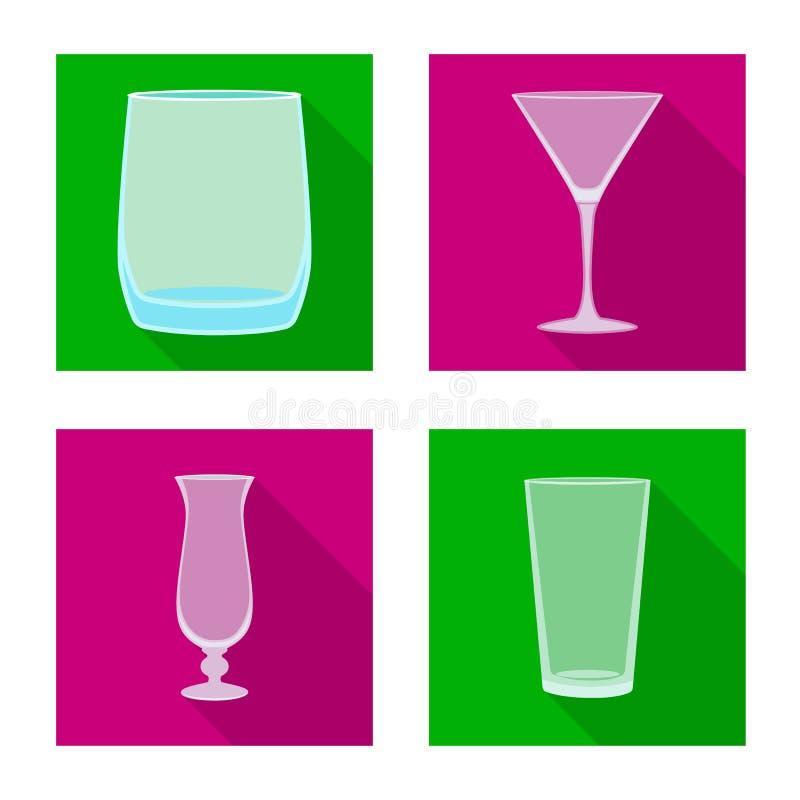 Projeto do vetor das bebidas e do logotipo do restaurante Ajuste das bebidas e da ilustra??o do vetor do estoque da celebra??o ilustração royalty free