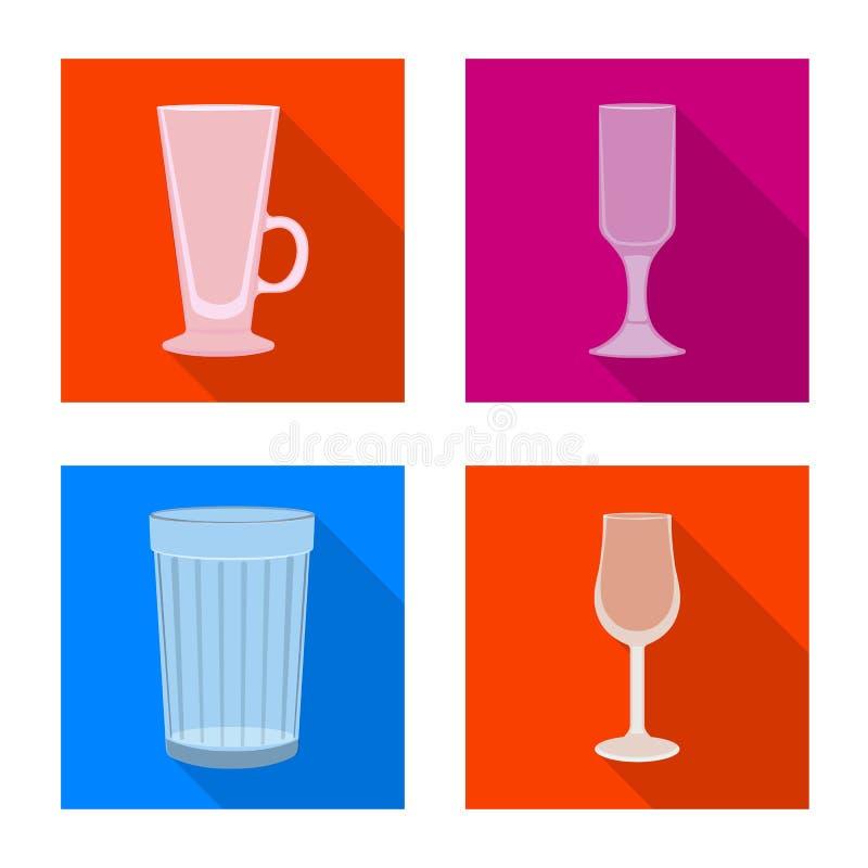Projeto do vetor das bebidas e do sinal do restaurante Cole??o das bebidas e ?cone do vetor da celebra??o para o estoque ilustração stock