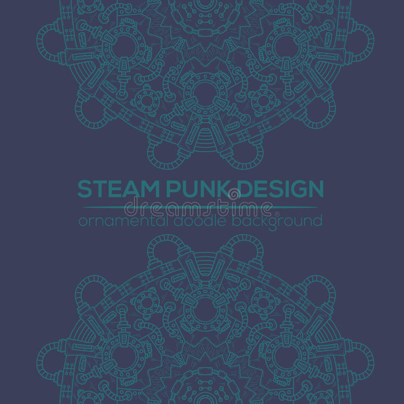 Projeto do vetor de Steampunk com elementos técnicos industriais ilustração do vetor