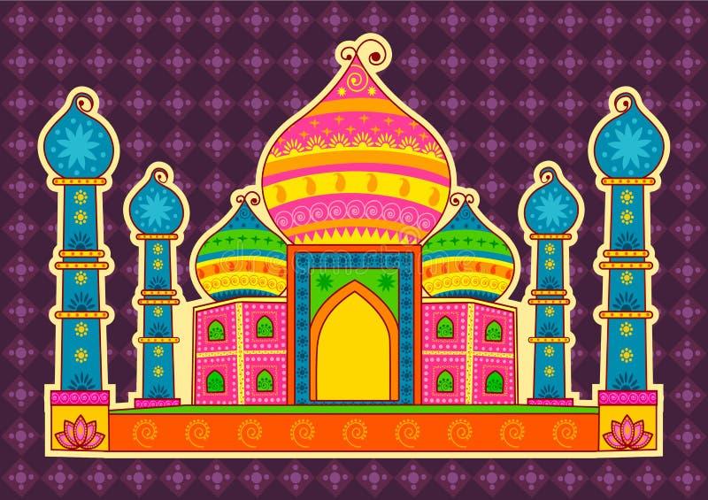 Projeto do vetor de Taj Maha ilustração do vetor