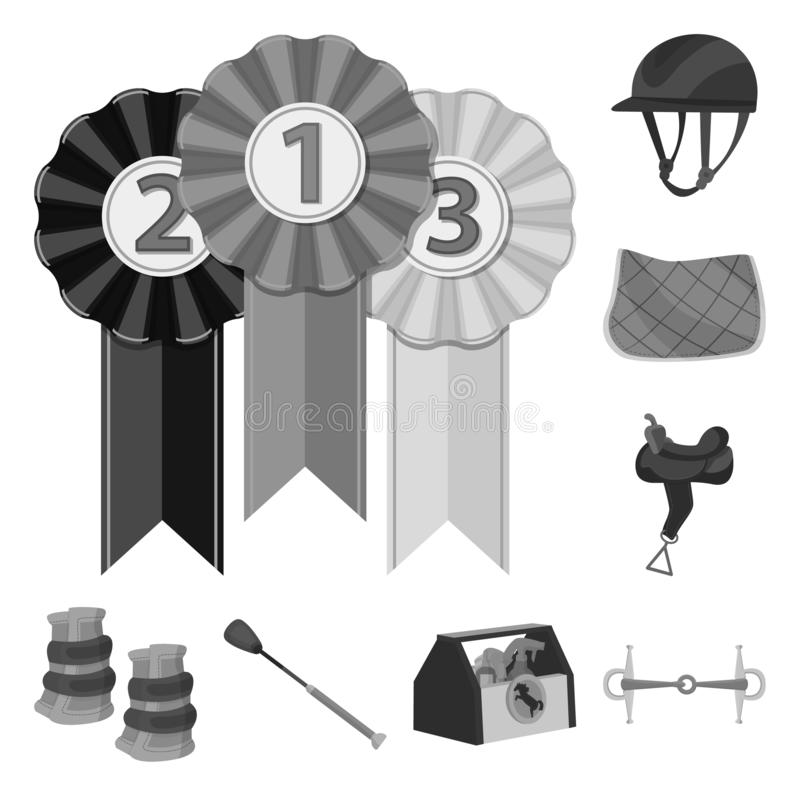 Projeto do vetor do logotipo da raça e do cavalo Ajuste da raça e de competir a ilustração conservada em estoque do vetor ilustração do vetor