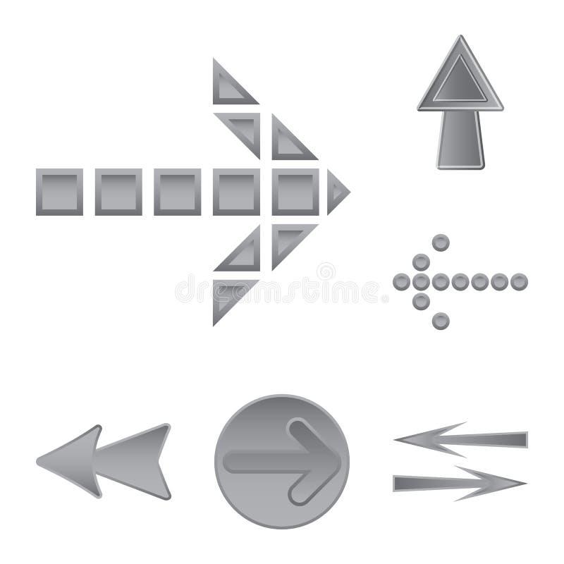 Projeto do vetor do logotipo do elemento e da seta Grupo da ilustra??o conservada em estoque do vetor do elemento e do sentido ilustração do vetor
