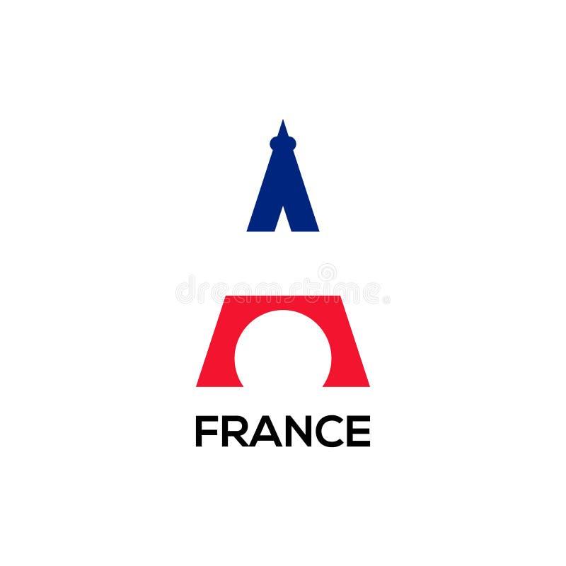 Projeto do vetor do logotipo do flage de Eifel ilustração royalty free