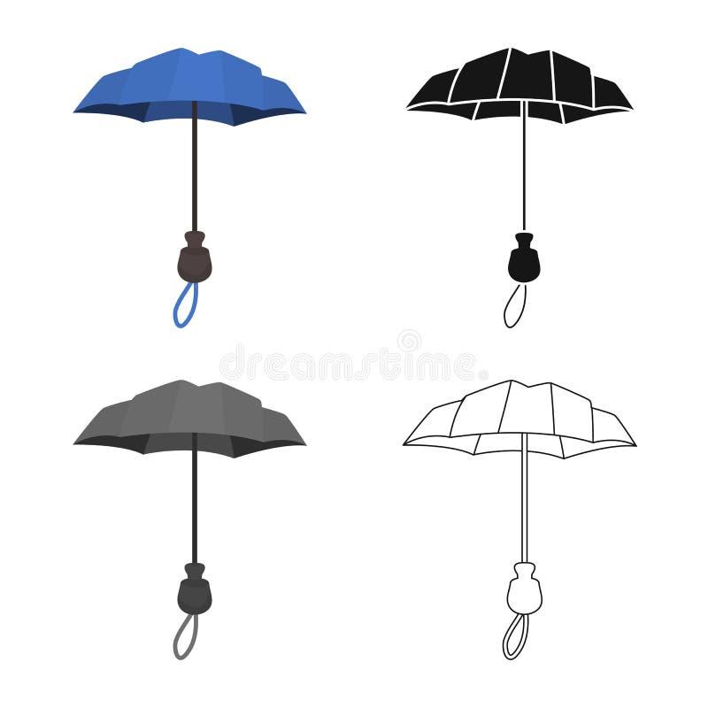 Projeto do vetor do parasol e do sinal da cobertura Cole??o do parasol e do s?mbolo de a??es cl?ssico para a Web ilustração stock