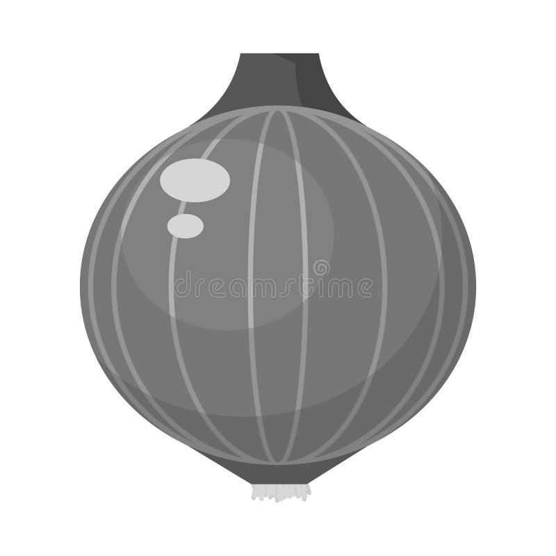 Projeto do vetor do símbolo da cebola e da especiaria Ajuste da cebola e do símbolo de ações da agricultura para a Web ilustração do vetor