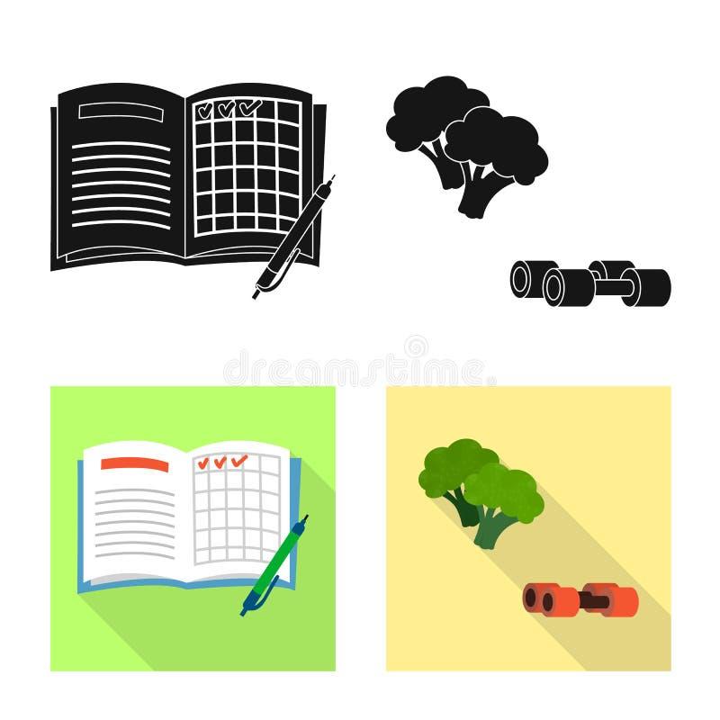 Projeto do vetor do símbolo da dieta e do tratamento Coleção do ícone do vetor da dieta e da medicina para o estoque ilustração do vetor