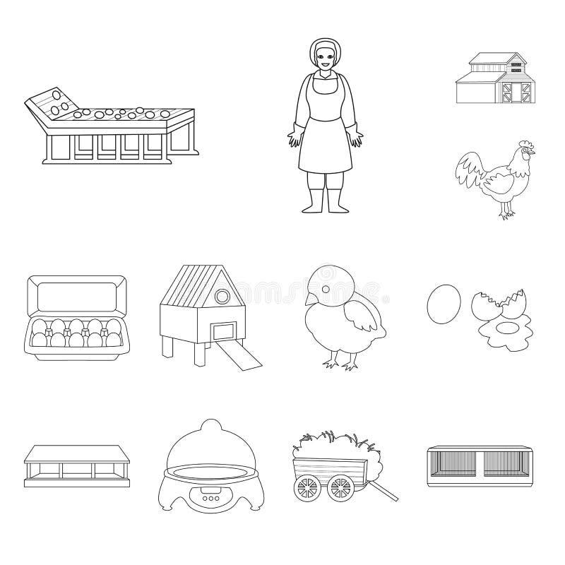 Projeto do vetor do símbolo da natureza e da agricultura Ajuste da natureza e do símbolo de ações animal para a Web ilustração stock