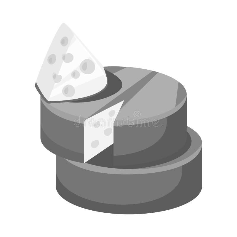 Projeto do vetor do símbolo do queijo e do queijo Cheddar Ajuste do ícone do vetor do queijo e do Parmesão para o estoque ilustração royalty free