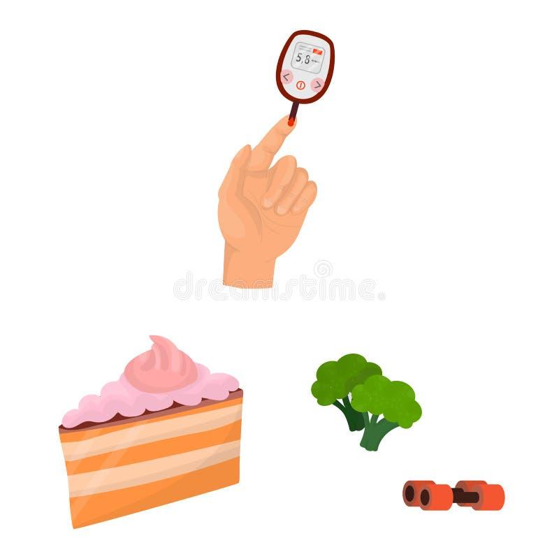 Projeto do vetor do s?mbolo mellitus e do diabetes Cole??o da ilustra??o mellitus e da dieta do estoque do vetor ilustração stock