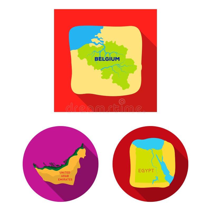 Projeto do vetor do sinal médio e do leste Ajuste do ícone do vetor do meio e do país para o estoque ilustração do vetor